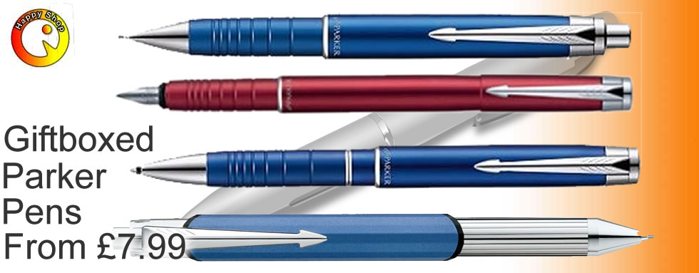 Giftboxed parker pens from just £7.99